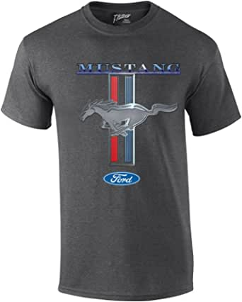 Ford Mustang T-Shirt Ford Mustang Pony & Stripes