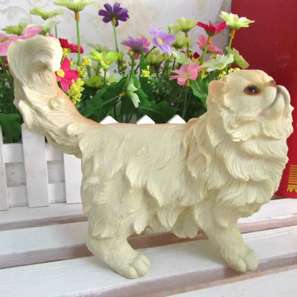 1 JIAHUADE Study Room Living Room Cute Resin Simulation Persian Cat Animal Ornaments Sitting Posture,1