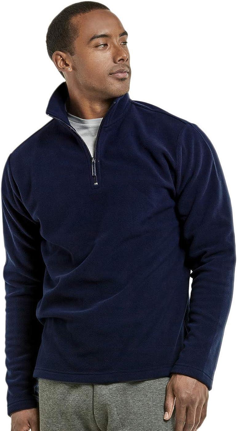 Knocker Mens Polar Fleece Quarter Zip Pullover by Teejoy