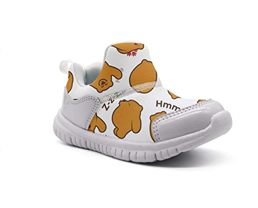 ONEYUAN Children Funny Bears Reading and Sleeping Kid Casual Lightweight Sport Shoes Sneakers Walking Athletic Shoes