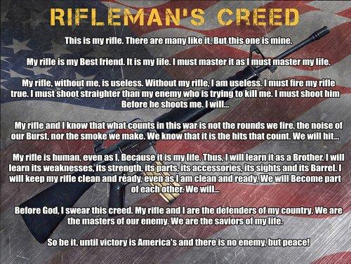 Usmc Marines Rifleman Creed Poster