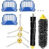 TOPINCN Cepillo Flexible De Cerdas Cepillos Laterales Armados Kit De Accesorios De Repuesto para Roomba Serie 600