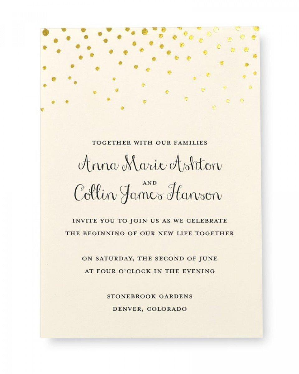 Amazon Gartner Studios Gold Foil Dot Invitation Kit Set Of 50