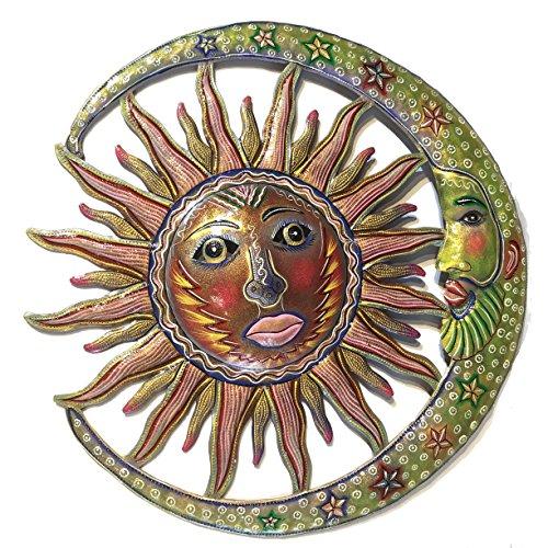Sun and Moon - Antique - 22 inch - Haitian Metal Drum Art