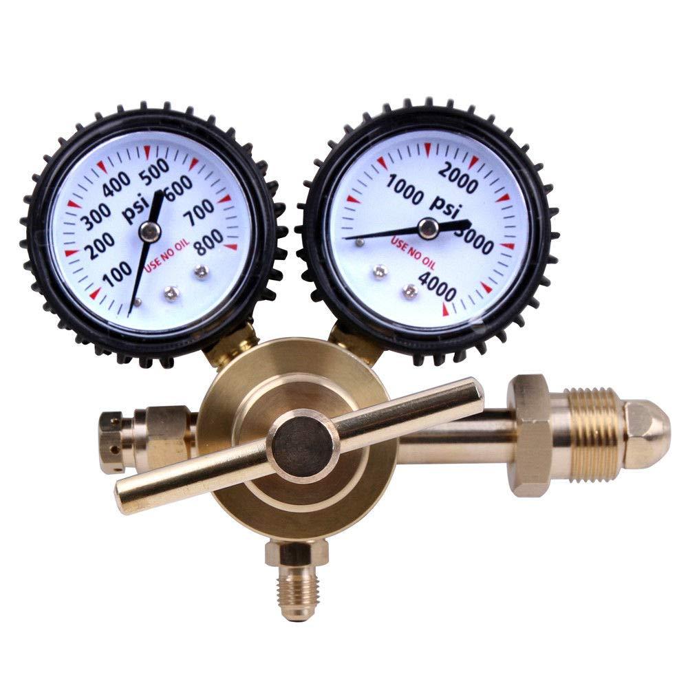 Global Supplies Nitrogen Regulator Pressure Equipment Brass Inlet Connection by Global Supplies
