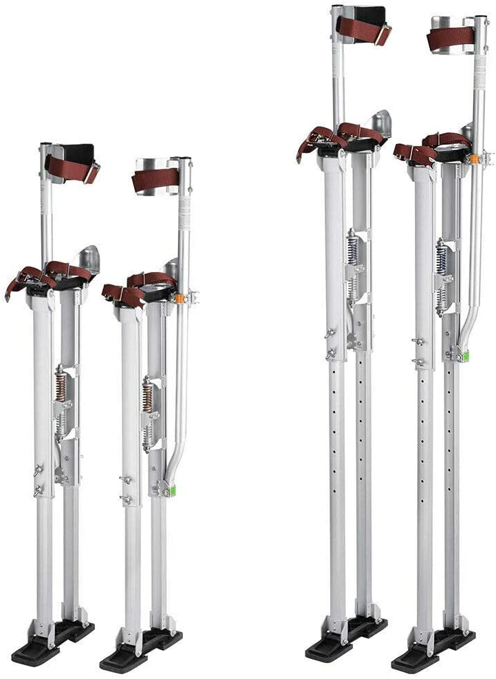 36-50 Aluminum Drywall Stilts Adjustable for Painting Painter Taping Silver