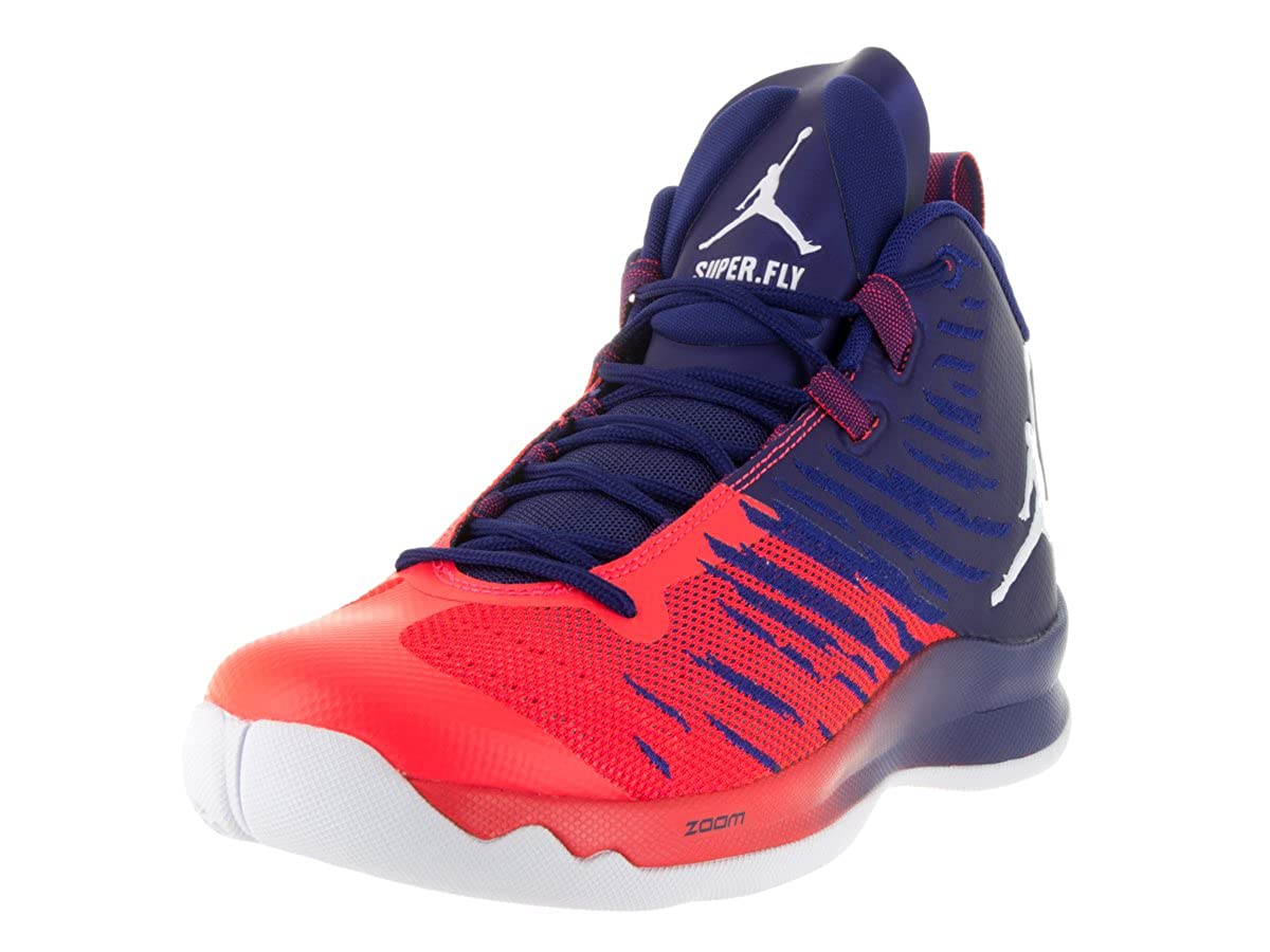 new arrival 2cc4b f40ac Amazon.com   Jordan Nike Men s Super.Fly 5 (12 D(M) US, Deep Royal Blue  White Infrared 23)   Basketball