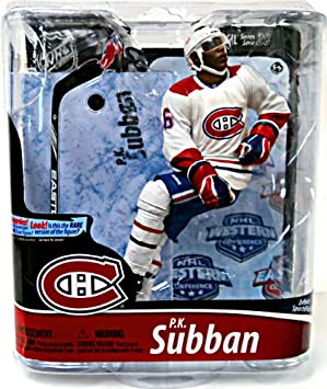 ea0ed0ddf Mcfarlane Toys Nhl Sports Picks Series 28 Action Figure P.K. Subban  (Montreal Canadians) White Jersey Bronze Collector Level Chase  Amazon.ca   Toys   Games