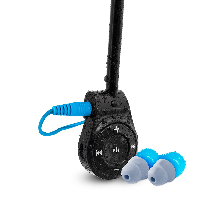 Waterfi Bluetooth Swimキット – Swim Withストリーミング音楽電話からwith防水Bluetoothと防水ヘッドフォン W/Waterproof Short Cord Headphones btkit-1-short B079FHPCMG   W/ Waterproof Short Cord Headphones