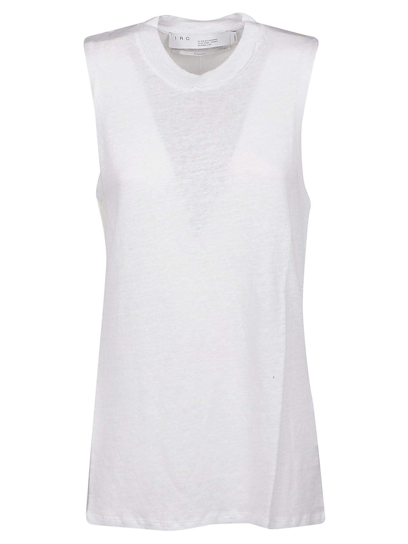 IRO Womens WP21EVENWHI01 White Linen Tank Top