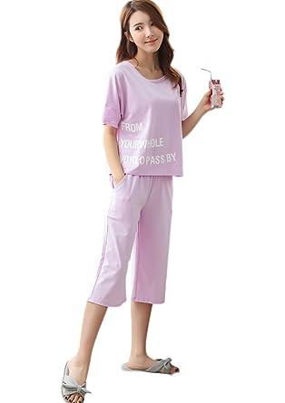 Sifuma パジャマ 半袖 レディース 上下セット 夏 パジャマ 半袖 綿 コットン ナイティ レース ルームウェア 女性
