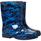 Mountain Warehouse Splash Kids Wellies - Easy Clean Wellington Boots, Waterproof Rain Boots, Soft Fabric Lining Walking Shoes, Longer Length Summer Shoes -for Travelling