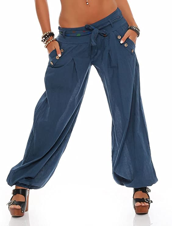 Malito Bombacho clásico Design Boyfriend Aladin Harem Pantalón Sudadera Baggy Yoga 3417 Mujer Talla