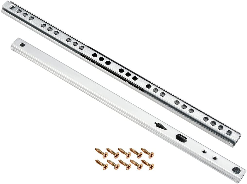 16mm Wide,1 Pair 11-Inch uxcell Ball Bearing Drawer Slides Two Way Slide Track Rail