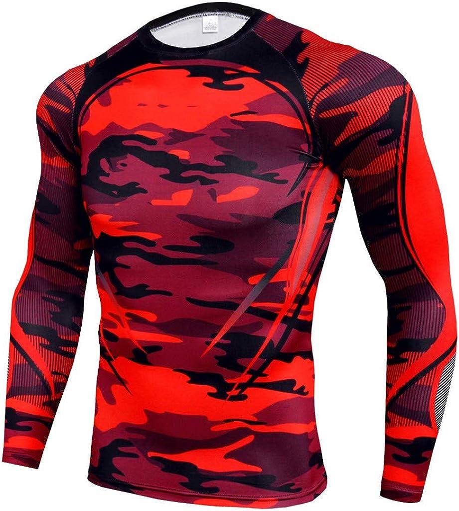 Correr FELZ Conjunto de Compresion Hombre Fitness Secado R/ápido Camisetas Compression Mallas Running El/ástico Pantalon Deporte Traje Deportivo Ajustado Hombre para Running Gym
