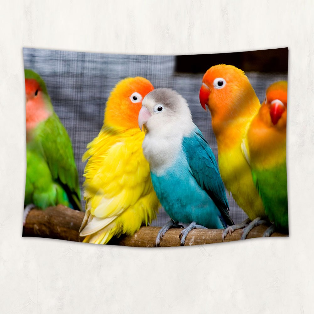 Amazon.com: Parrot Macaw Tapestry Wall Hanging Blanket for Bedroom ...