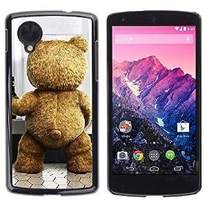 TopCaseStore / la caja del caucho duro de la cubierta de protección de la piel - Funny Cute Bear - LG Google Nexus 5 D820 D821