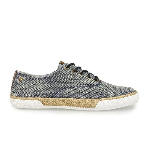 GIOSEPPO Alpargatas Cordones Azul Desgastado - Color - Azul, Talla Zapatos Hombre - 42: Amazon.es: Zapatos y complementos