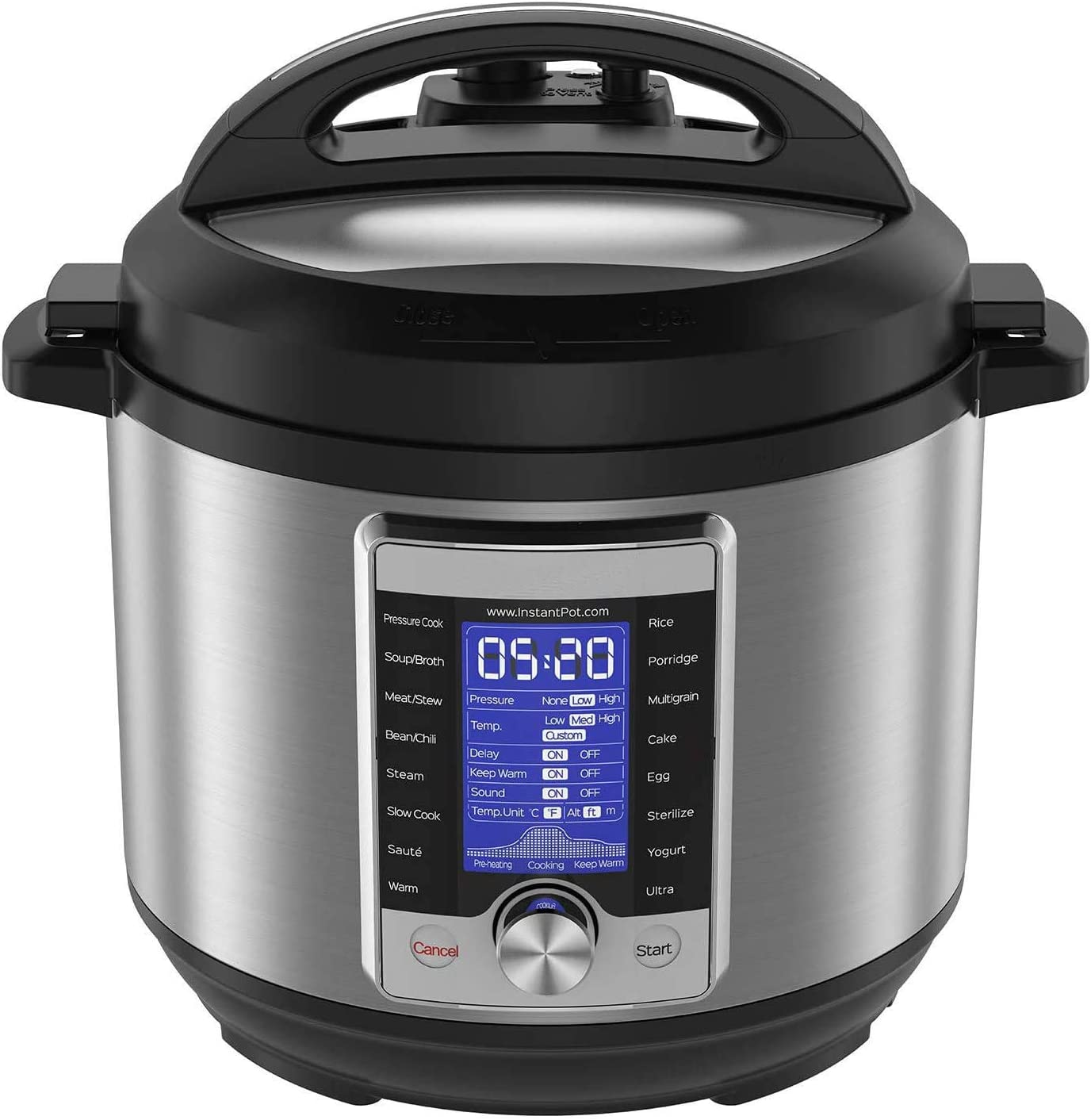 10-in-1 Electric Pressure Cooker, Sterilizer, Slow Cooker, Rice Cooker, 6 Quart, 16 One-Touch Programs & Air Fryer Lid 6 in 1, No Pressure Cooking Functionality, 6 Qt, 1500 W