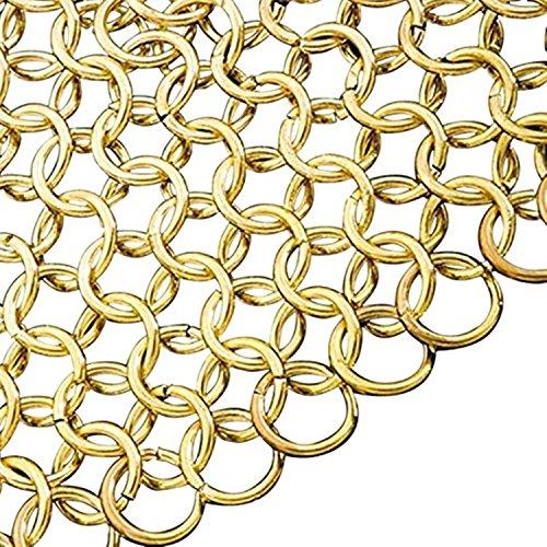 Brass Chainmail Armor Shirt Hauberk - Mail Shirt Brass Golden