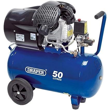 Draper DA50/412tv 50L 230 V 3.0 hp compresor de aire, Azul