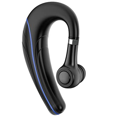 Bluetooth Headset, V4.1 Hands Free Bluetooth Earpiece with Microphone Wireless Earbud Car Headphones for Office Driving Samsung iOS Android by Samnyte