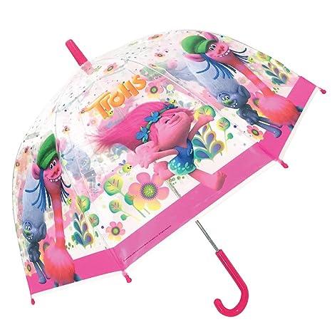 TROLLS Paraguas Burbuja Transparente Poppy (48 cms)