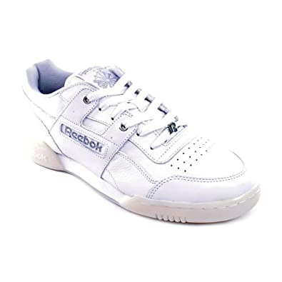 0f12be44f24 Reebok Mens WORKOUT PLUS R12 White Casual 10 US