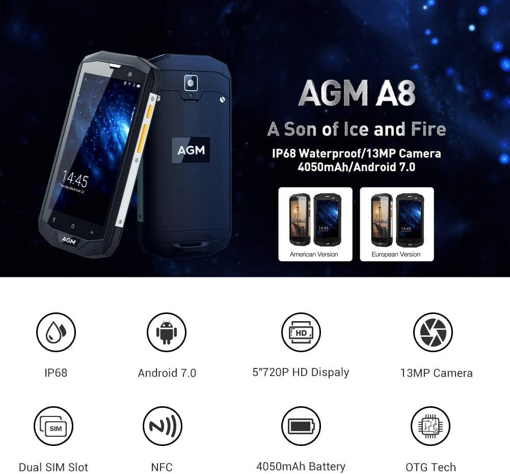 Phone EU, AGM A8 4GB RAM + 64GB ROM 5.0 Teléfono HD y teléfono ...