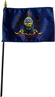 product image for 4x6 E-Gloss Pennsylvania Stick Flag - Flag Only - Qty 1