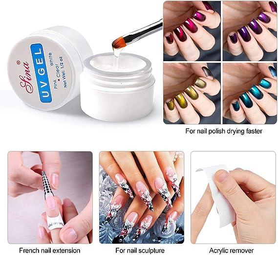 Beito 3 colores Gel de extensión de uñas Uñas Quick Uv Builder Gel ...