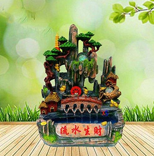 Resin Fish Tank Rockery Arch Landscape Micro-landscape Water Ornaments Creative Gifts Feng Shui Wheel Water Landscape Decoration Artwork