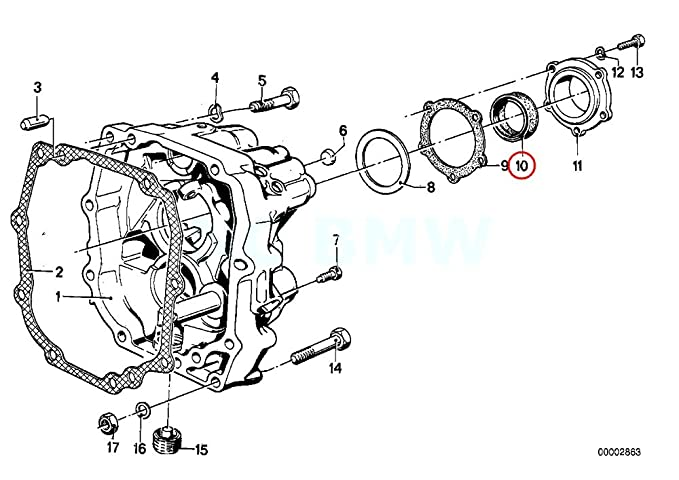 amazon bmw genuine shaft seal automotive 86 BMW Parts
