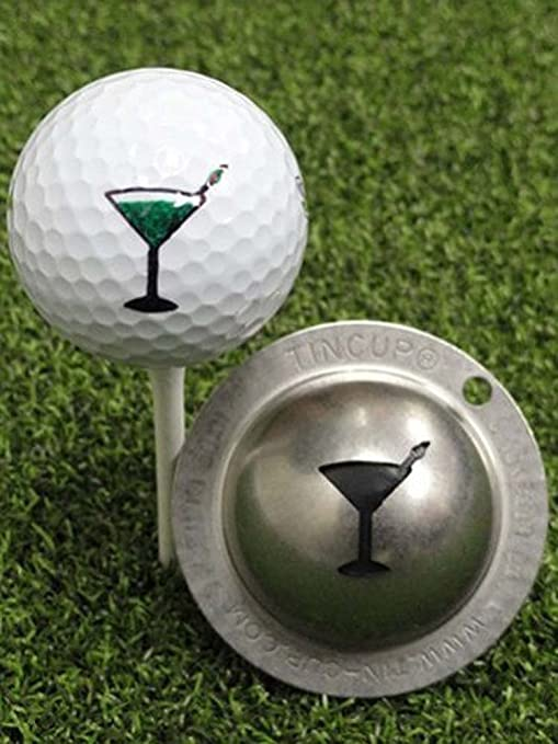 .com : tin cup martini golf ball custom marker alignment tool ...