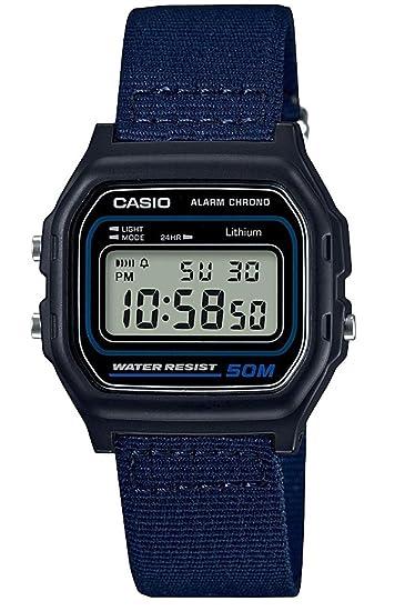 Casio Reloj Digital para Hombre de Cuarzo con Correa en PU W-59B-2AVEF: Amazon.es: Relojes