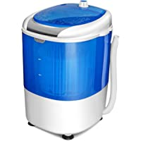 COSTWAY Mini Washing Machine with Spin Dryer, Electric Compact Laundry Machines Portable Durable Design Washer Energy…