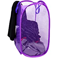 CONSUN Net Laundry Bag Foldable & Collapsible with Easy to Carry Handle- for Home, Dorms, Hostel (Random Color, 30L)