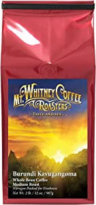Mt. Whitney Burundi Kavugangoma, Organic Whole Bean Coffee - 2 lb bag