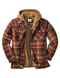 Legendary Whitetails Men's Maplewood Hooded Shirt Jacket (XXX-Large, Maplewood Brown Plaid)