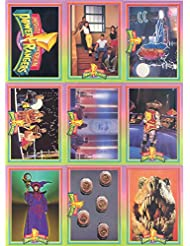 POWER RANGERS SERIES 1 1994 WALMART COMPLETE BASE CARD SET OF 72 + 12 FOILS