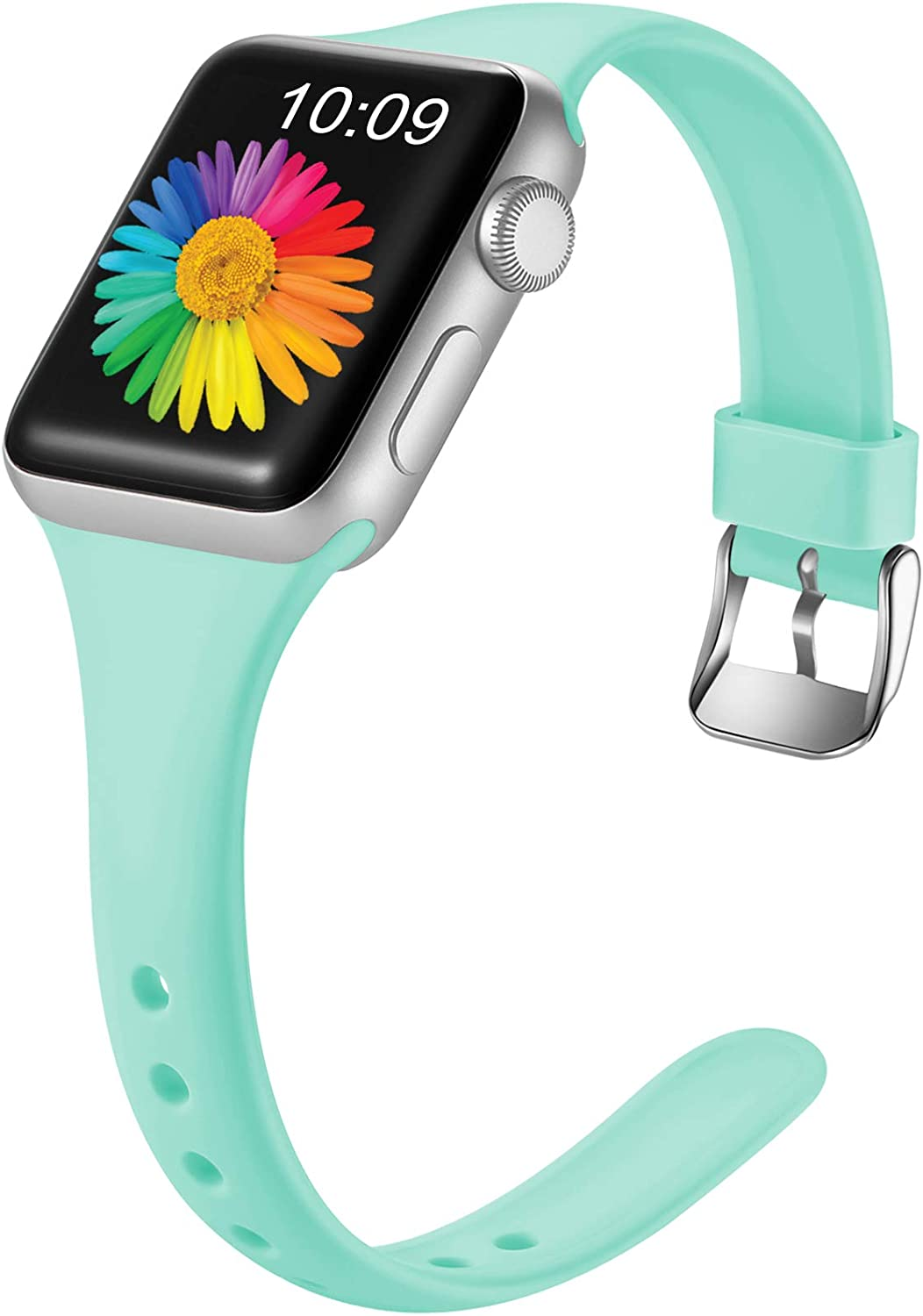 Getino Compatible with Apple Watch Band 40mm 38mm for Women Men Replacement Accessory Sport Bands for iWatch SE & Series 6 & Series 5 4 3 2 1, Mint Green, S/M