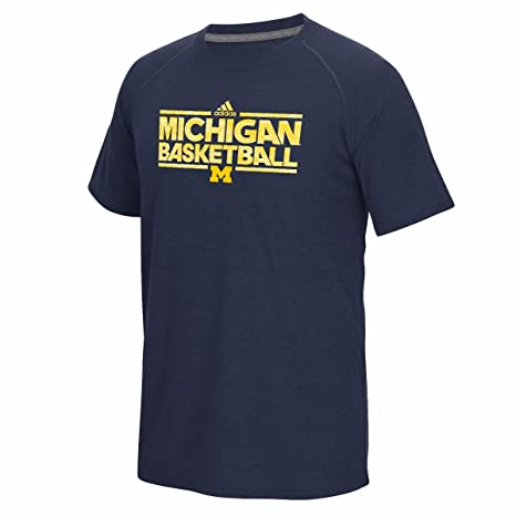 76e6a2768 Michigan Wolverines NCAA Adidas Men s Navy Blue Climalite Ultimate  Performance Michigan Basketball T-Shirt (