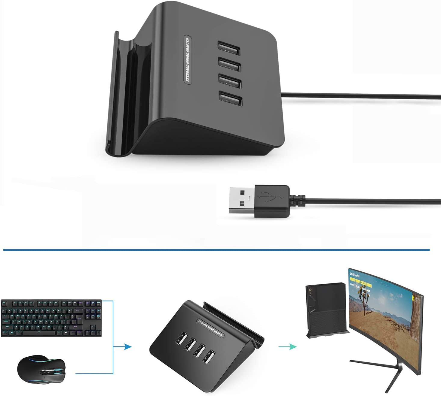 Delta essentials Adaptador para Teclado y Ratón de Juegos FPS ...