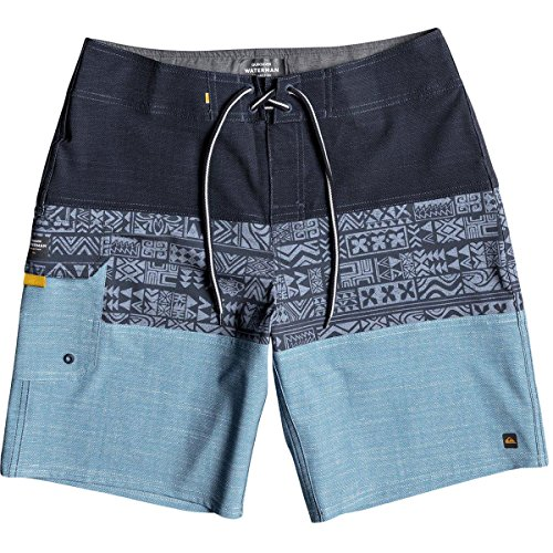 Quiksilver Waterman Men's Fairway Triblock Boardshort, Dark Denim, 34