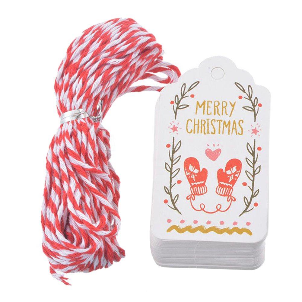 Jingyuu bigliettino addensare punch for Christmas Decor//DIY//tag//Craft//regalo fatto a mano lavoro bow