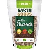 Earth Goods Organic Blond Flax Seeds, NON-GMO, Gluten-Free, High Protein 340g