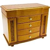 Mele Co Ida Burl Oak Finish Wooden Jewellery Box 106