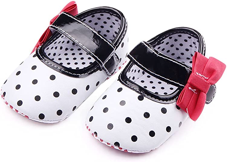 Cloudro Summer Shoes Kids Baby Girls Bowknot Polka Dot Hollow Single Shoes