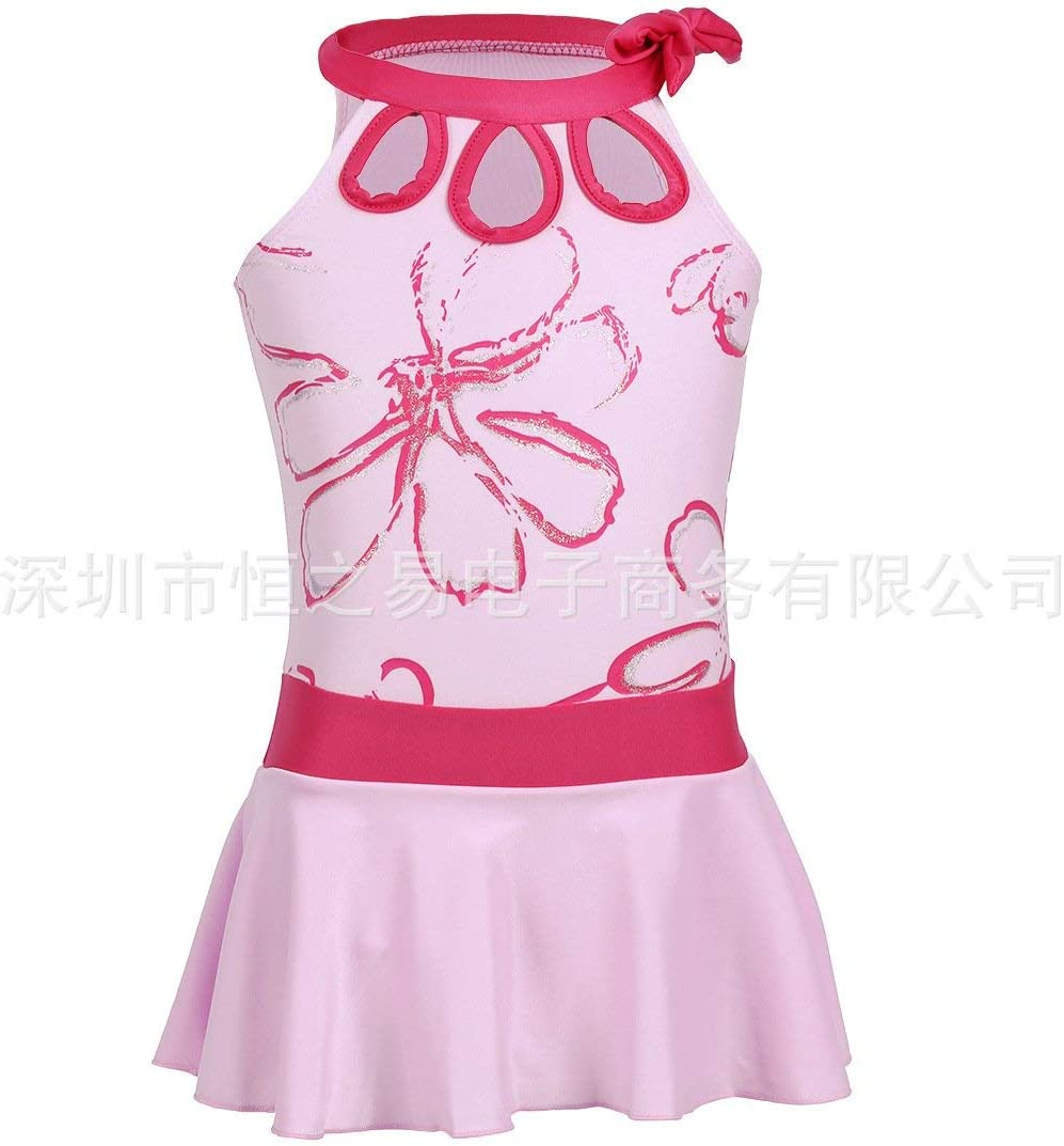 Oudan Children Swimsuit Children Swimsuit Girls/_Split Skirt Style The Girls Bubbling Hot Springs Out-of-Stock Lovely Pink Color : As Shown, Size : One Size