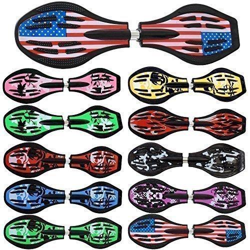 Waveboard Original Funtomia® mit ABEC-11 Lager inkl. Tasche und CD (Es stehen verschiedene Farbdesigns zur auswahl) (Amerika / Flagge Design)